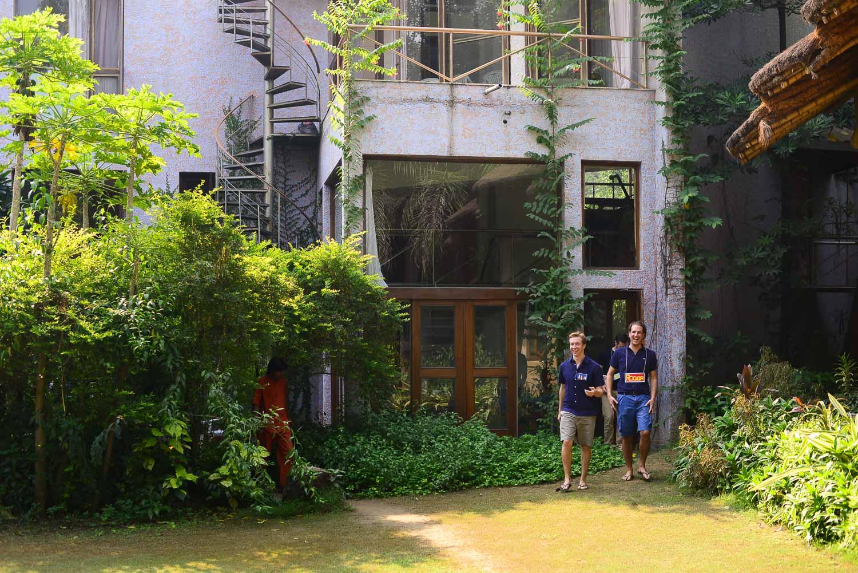 Exploring the venue at POY India