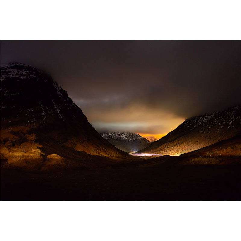 Night time landscape at Glen Coe by Iain Robinson